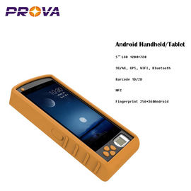 1D 2D Barcode Scanner , Android Fingerprint Handset Support For A-GPS