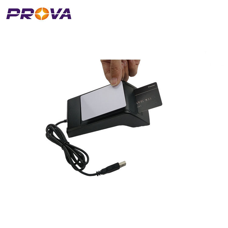 IC & RFID Chip Card Reader USB Interface With 500,000 Times Long Life Time supplier